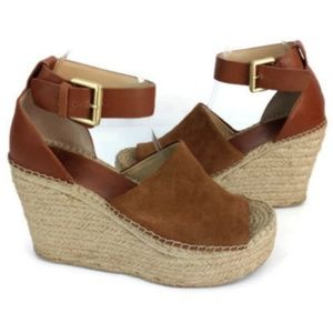 Marc Fisher Women's Brown Wedge Sandals Size 9.5 M